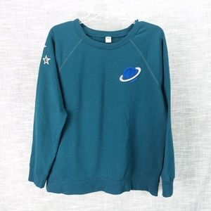 Old Navy Planet Stars Sweatshirt Knit Top Large
